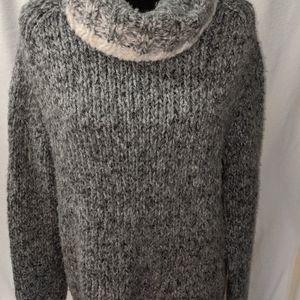 Heavyweight cowl neck sweater